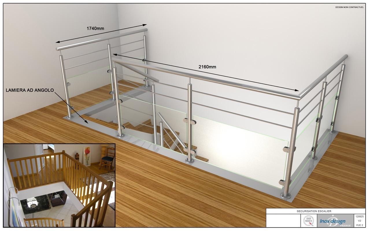 exemple de projet garde corps 3D par inox design