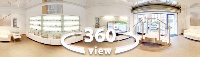 Visitez le showroom avec une vue à 360°