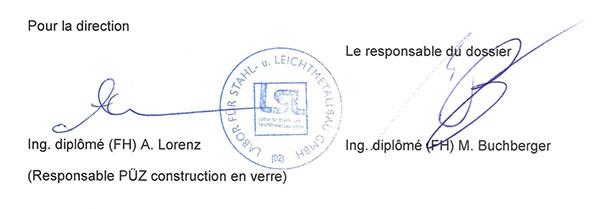 signature certification essai-garde-corps-verre