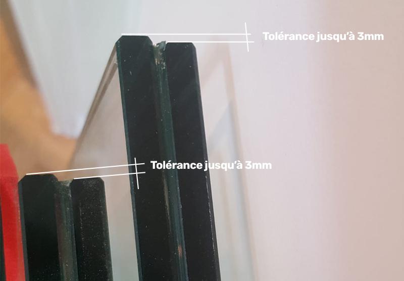 tolérance de fabrication des verres feuilletés trempés